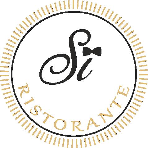 Si-Ristorante. Logo Gold & Schwarz