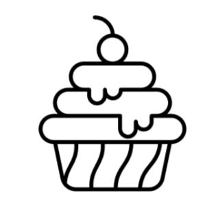 Icon Speisekarte Nachtisch - auf Si-Ristorante.de